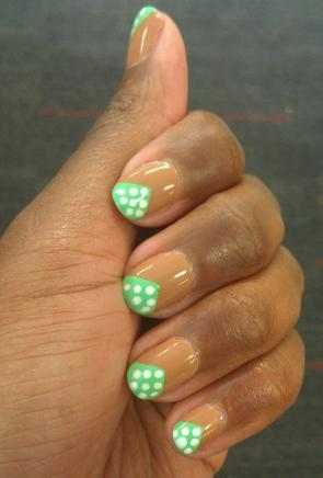 New nails! Was feeling springy and got sick of my nude nails. Tape mani = easy fix.