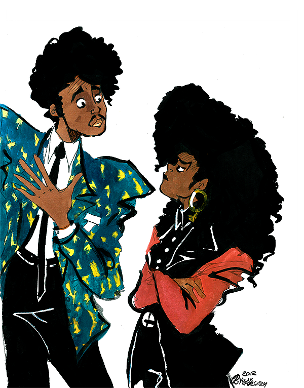 Morris Day (of The Time) & Janet Jackson. Because I enjoy that everybody in the 80's was somehow connected.