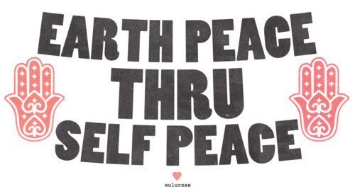 befairbefunky:  Inner peace is the best remedy for World peace ☮