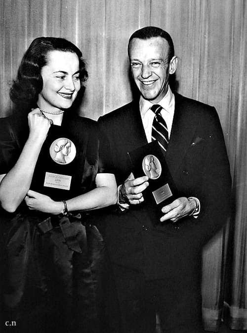 Fred Astaire and Olivia de Havilland | Film Achievement Awards, 23 Feb 1949