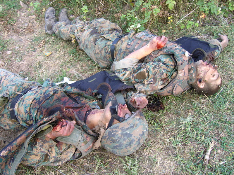 2 Georgian soldiers killed in the 2008 South Ossetian war.