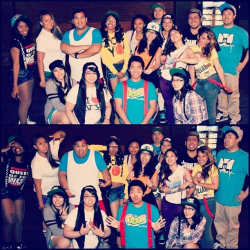 TekhMoh and FamBiz collab. At PCN. (forgot to post this :p haha) #pcn #tekhmoh #fambiz #dancers #90stheme  (Taken with instagram)