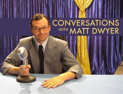 mattdwyer:  I have a podcast coming out and I believe it's gonna kick some serious ass. The picture you see is what we are using on the site as the  logo. After MATTs Radio I wanted to do a podcast were I just sit down with someone from any walk of life and have a conversation. I wanted them to open up, be honest and discover the great stories I think everyone on this god damned earth has to tell. In turn, I would get to be funny (not at their expense) and explore, discuss and share some shit about myself in the process. Well, I am getting to do that show and I think it's gonna be fucking awesome. I have 2 episodes in the can. 1) I conversed with a couple of Marijuana Defense Lawyers. 2) I spoke with a woman who has sex with robot dildos. I also, have some amazing guests lined up like, a female butcher and a fella who dealt art for John Wayne Gacy (among many other things). The conversations go into all kinds of directions and have been really fun and fascinating.  When is this show you ask? (or maybe you didn't but I'm fucking telling you anyway) We are waiting for Itunes and then very soon. I'm working with Dustin Marshall an insanely great producer and tech guy. It's gonna kick some fucking ass. I hope you listen and I will keep you posted.   Jesus. Look at this asshole. Matt and I are old friends and doing MATTs Radio with him was a lot of fun. Glad he's carrying on with it. Subscribe, everybody!