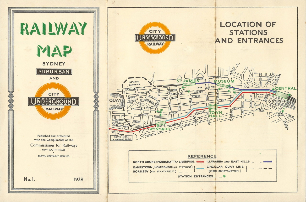 "Historical Map: Sydney Rail Map, 1939 Just how influential was the original Harry Beck London Underground diagram of 1933? Certainly enough for Sydney, Australia to issue this nearly identical vision of its own suburban rail system in 1939, right down to its own version of the London Underground roundel. I've never been able to find out whether this map was authorised or licensed from the London Underground, or whether Sydney just thought, ""that looks like a good idea, let's do that!"" The prominent usage of the Underground icon is actually somewhat deceptive, as Sydney at the time had a grand total of four underground stations, all in the city - Town Hall, Wynyard, St James and Museum. Service levels in Sydney have also never matched those of a true Metro/Underground/Subway system, preferring to run large capacity trains with longer headways (commuter rail). However, it's certainly clever to evoke images of the Mother Country's glorious train system when you're promoting your own, right? Have we been there? Yes, just not in 1939. What we like: Great early example of how Beck's principles could be applied to other rail systems. Interesting view of the older Sydney system, with some stations shown that no longer exist (the ANZAC Rifle Range), and others that have changed their name (the lovely ""Herne Bay"" is now just boring old ""Riverwood"", while the spectacularly named ""Dumbleton"" is now just ""Beverly Hills""). Nice indication of the ongoing electrification of the system: the electrified lines are shown in bright, new colours, while the steam powered lines are plain black. What we don't like: Some confusing labelling of the stations between Central and Strathfield. I'm not entirely sure whether the colouring of the route lines actually matches up to service patterns of the day, making me wonder whether the map designer truly understood how diagrammatic maps are actually meant to work. A strange need to indicate long-distance train services on a suburban rail network map. Broken Hill? Albury? Brisbane?! Our rating: Fascinating example of an early adopter of the Back style of transit map, even if it's not quite up to the same standard of draftsmanship. Three-and-a-half stars.  (Source: Mikeyashworth/Flickr)"