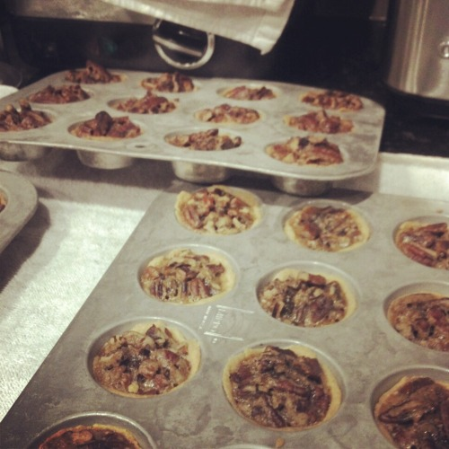 Mom's pecan tarts…in May?! I'll take it.
