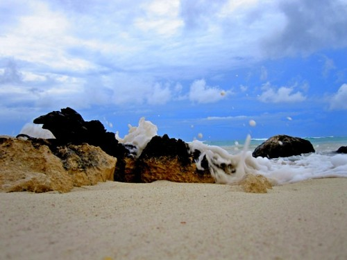 Photo a day May-8: A smell you adore. Sand and salt water. (Photo by me: Riviera May, Oct 2011)