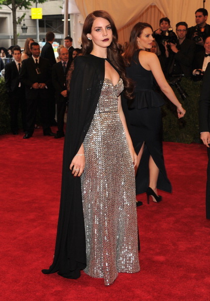 Why so pouty, cape-laden Lana? More Met Gala coverage at VH1 Celebrity. [Photo: Getty Images]