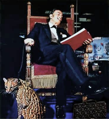 Fun Photo Friday Salvador Dali and his pet Ocelot