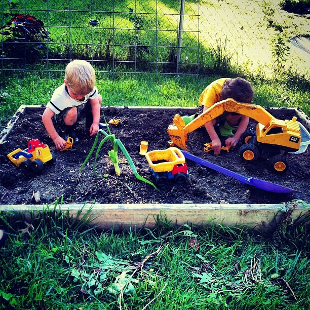 We don't have a sandbox. We have a construction site.  (Taken with instagram)