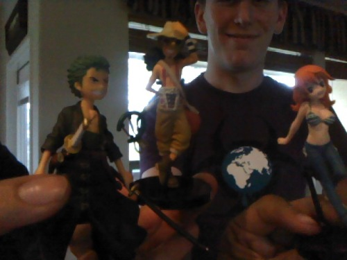 Uncle Packy brought Usopp over to play with Zoro and Nami. They are all best friends.
