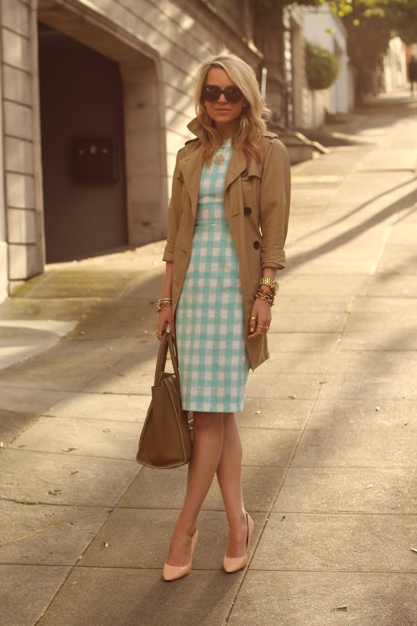 Dress: ASOS. Jacket: GAP. Shoes: Pour La Victoire. Sunglasses: Karen Walker. Nails: Butter London 'Teddy Girl'. Purse: Celine. Jewlery: Jcrew, Michael Kors Watch, Pomellato,David Yurman. Monogram Necklace: Max&Chloe.