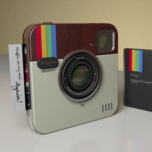Instagram Socialmatic Camera (via Fancy) I want this extremely bad!!!!!!