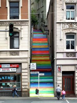 cordura:  Rainbow Holsteiner Stairs, Wuppertal Germany