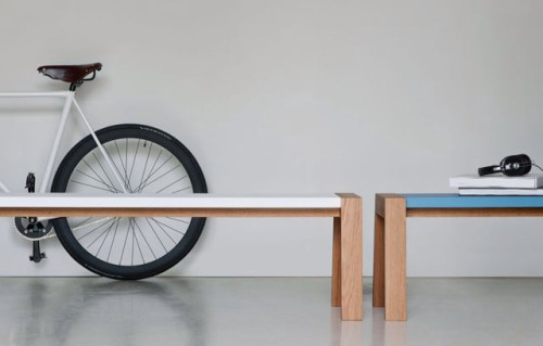 Flak bench (design Nathan Yong) by PUNT Mobles furniture label from Valencia, Spain. Love-Spain.