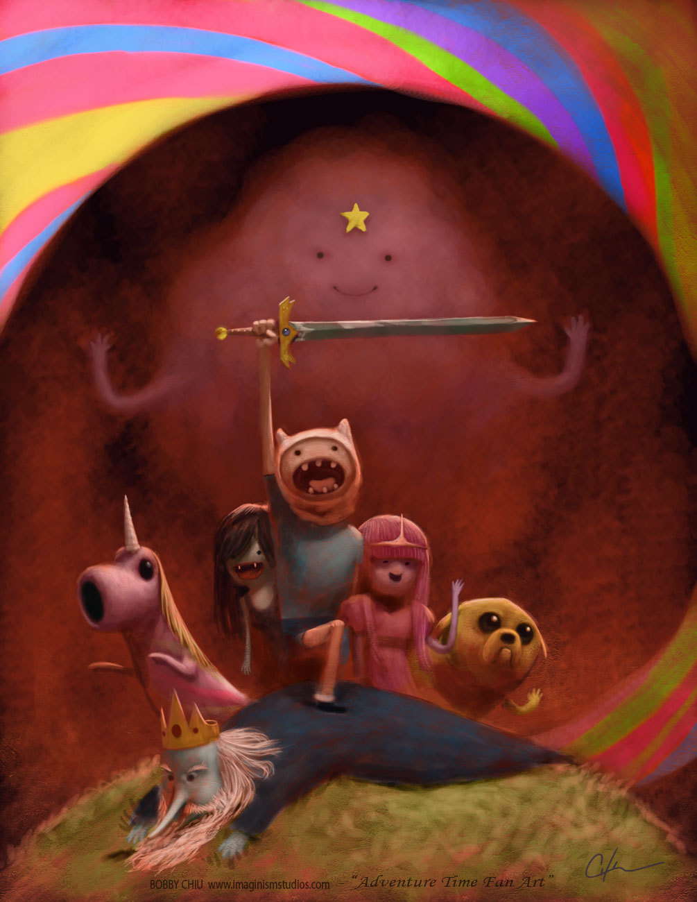 arrrrtful:  I love Adventure Time by `imaginism