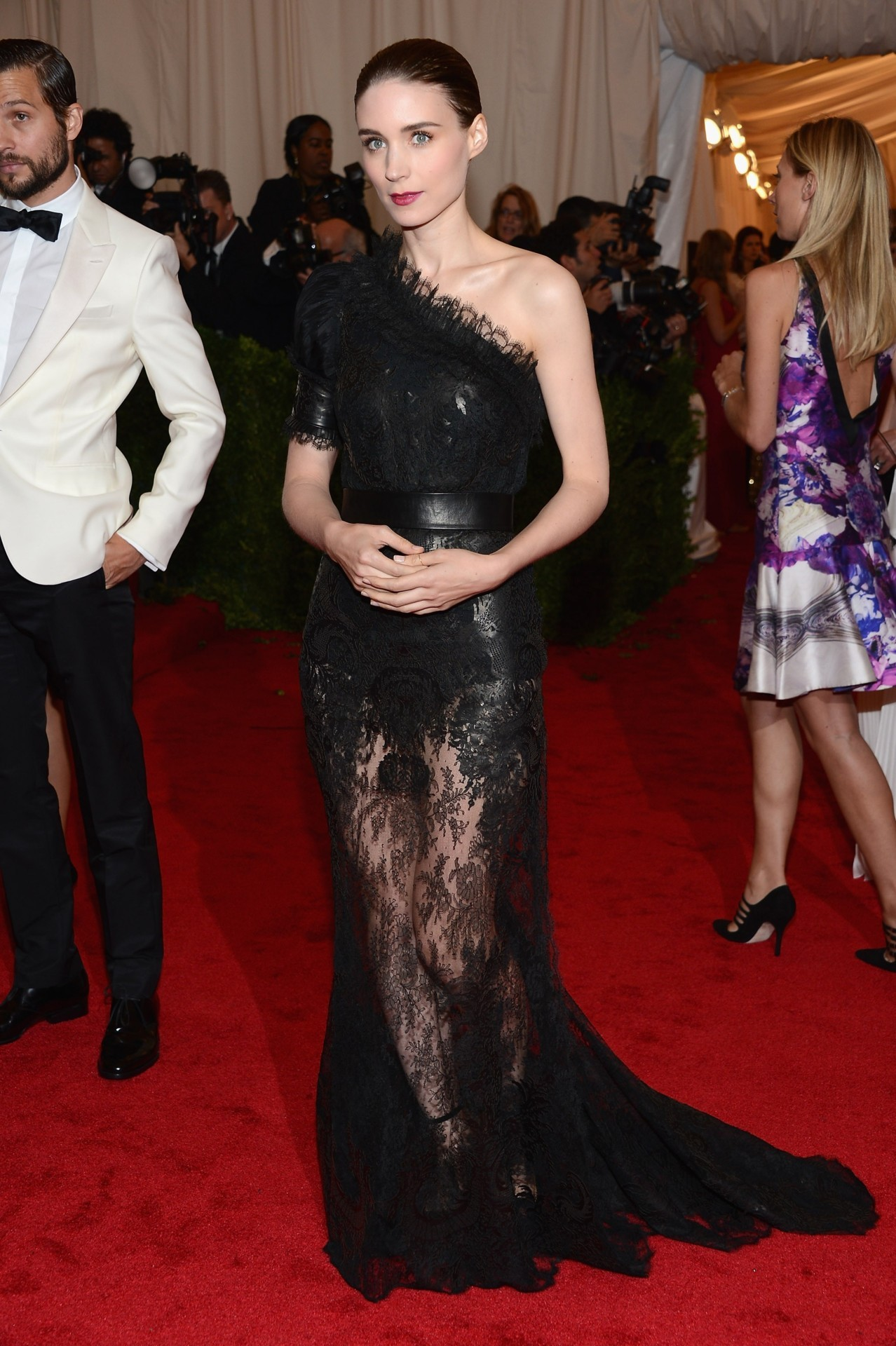 Rooney Mara in Givenchy at the 2012 Met Costume Gala, May 7th You can always trust Rooney to make the daring choice and look fantastic while doing it.  And she was made to wear Givenchy.