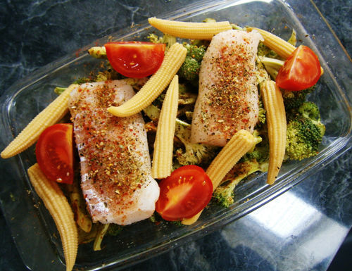 in-my-mouth:  Salmon and Veggies