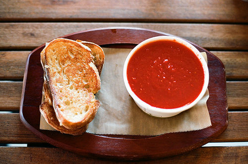 in-my-mouth:  Grilled Cheese and Tomato Soup