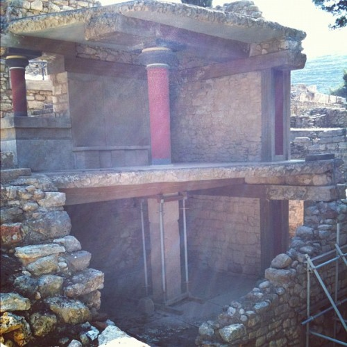 #Heraklion #Knossos #Palace #historical #monuments #Greece #Creteislands #instagram #holiday #tourist #mustsee #ruins  (Taken with instagram)