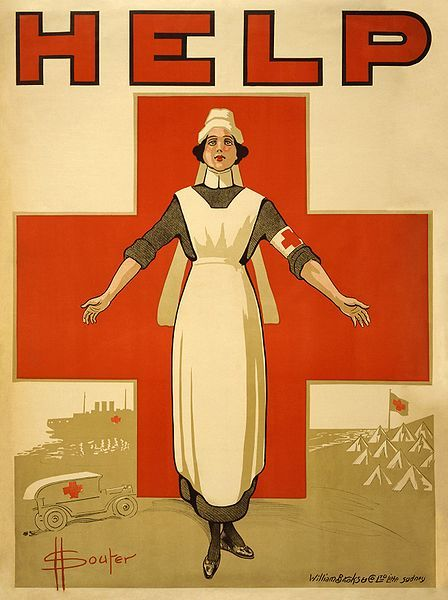 fyeah-history:  A Red Cross recruiting poster for nurses from World War I