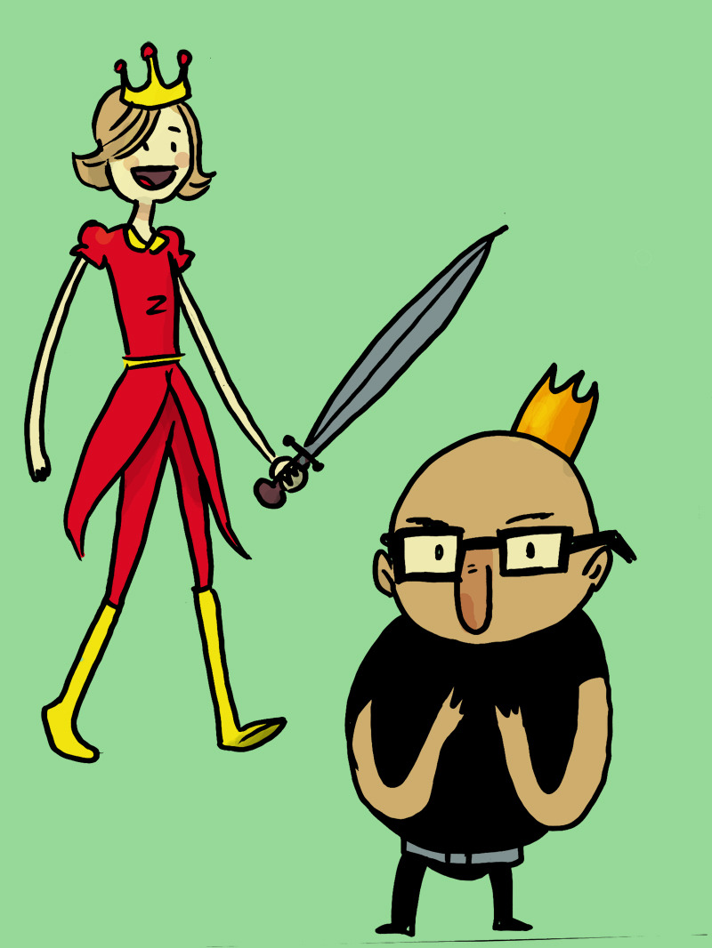 For no good reason I made Adventure time OCs- Scarlett Warrior Princess and King Daddy.