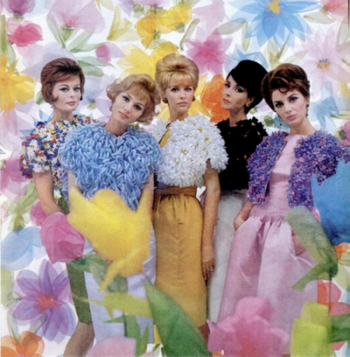 theswingingsixties:  Fashions for Spring, 1961.