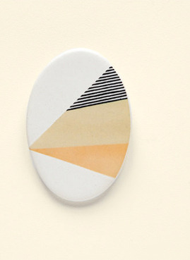 Ceramic Brooch by Depeapa on Etsy