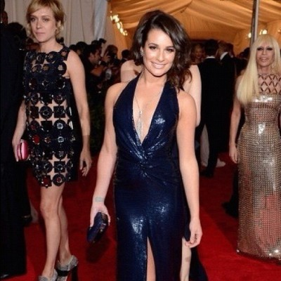 "Lea wears two coats of HIPPxRGB Nail Foundation ""F2"" to the Met Ball in NYC  (Taken with instagram)"