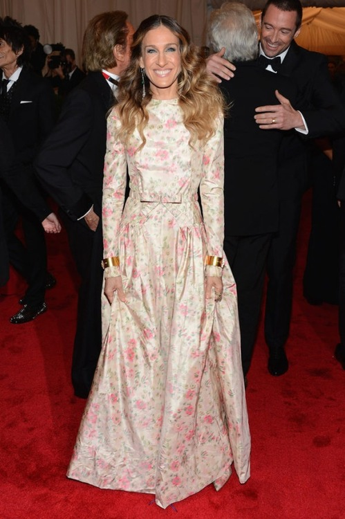 Sarah Jessica Parker in Valentino at the Met Gala, May 2012
