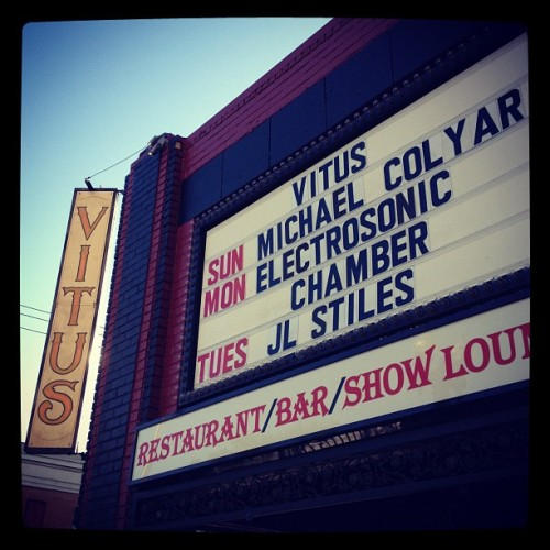 ESC is on the marquee! (Taken with Instagram at Vitus)