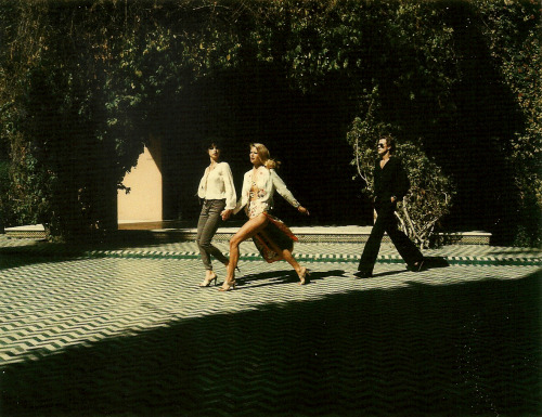 Photo by Helmut Newton, 1970s.