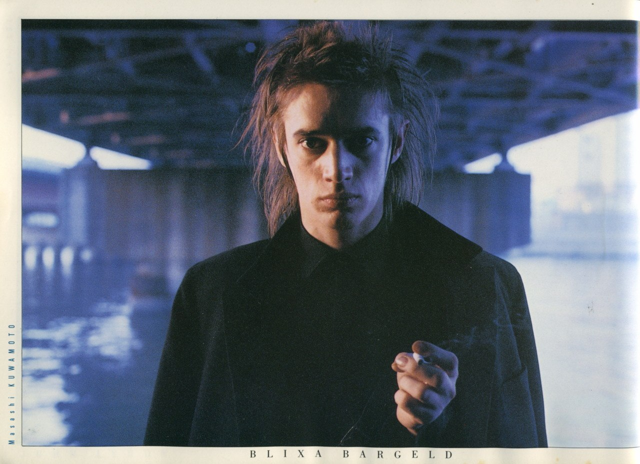 Blixa Bargeld 1985 - Photo by Mashashi Kuwamoto