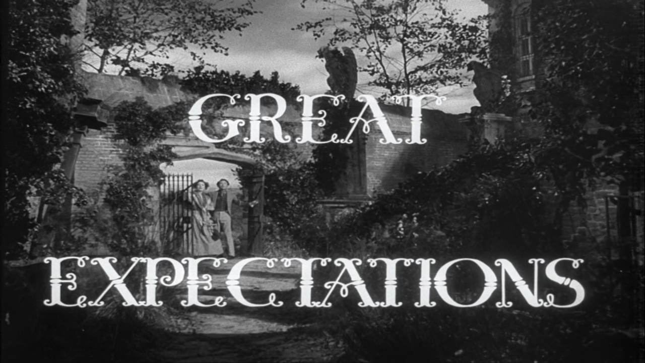 1946 - Tittle of 'Great Expectations' from David Lean with Jim Mills, Jean Simmons, Alec Guinness. A wonderful classic.