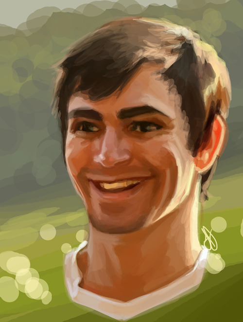 laurie-cakes:  Portrait of Josh. <:  Lauren drew my face!