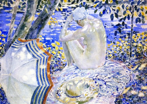 On the Bank, Frederick C. Frieseke