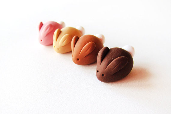 (via Miniature Candy Bunny Rabbit Set of Four polymer by MadAristocrat)