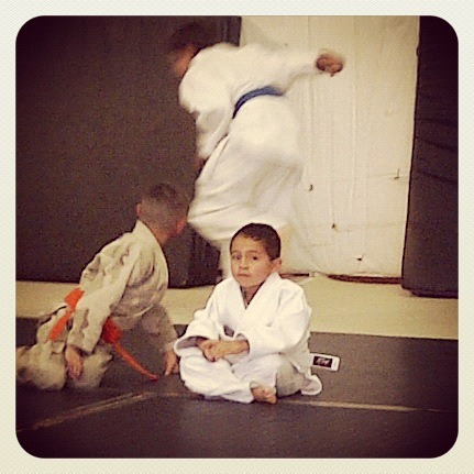 #DoItForTheKids  Carlos' son at karate.