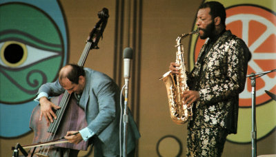 psychedelic-sixties:  Ornette Coleman and Bill Claxton - Monterey Pop festival 1967