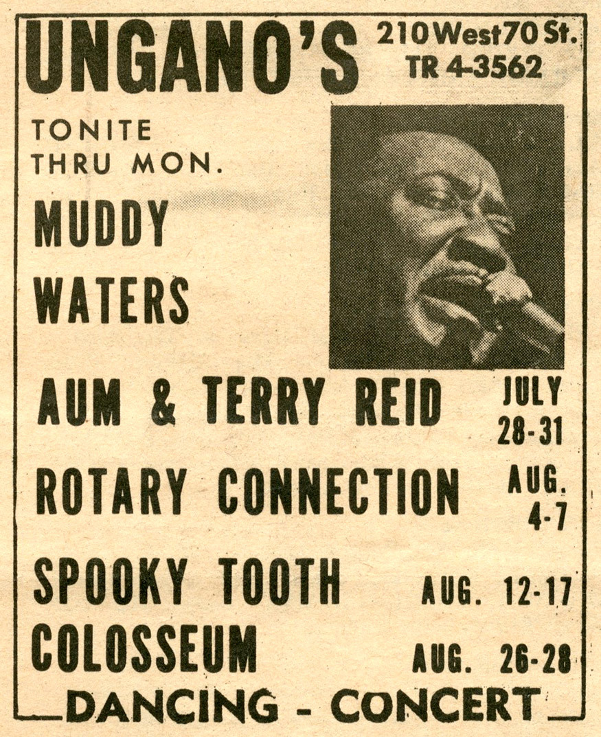 Muddy Waters at Ungano's in 1968