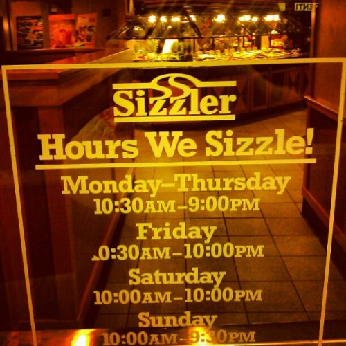 Hours We Sizzle (Taken with instagram)