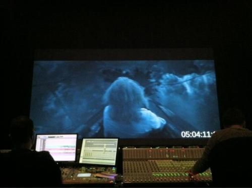 Tweet from @StobeHarju  Today's sound mix with the roller coaster… Holy f***** s***! 7.1 sound with some subwoofer got me going. http://pic.twitter.com/zFJysxRQ