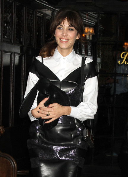 earlysunsetsovermonroeville:  Alexa Chung leaving hotel and heading to the Met Gala in New York City, New York on May 7 2012.