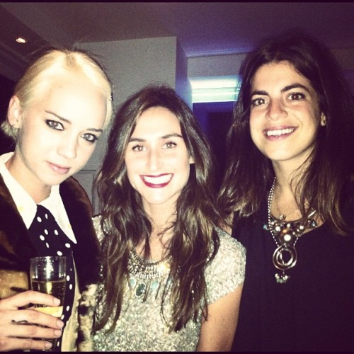 Two Brunettes & Blonde Named Margot @manrepeller @caitlin_moe @dannijo #latergram #girlbandsthatrock #questlovesfoodlaunch (Taken with instagram)