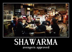 shawarma: avengers approved // haha love it.