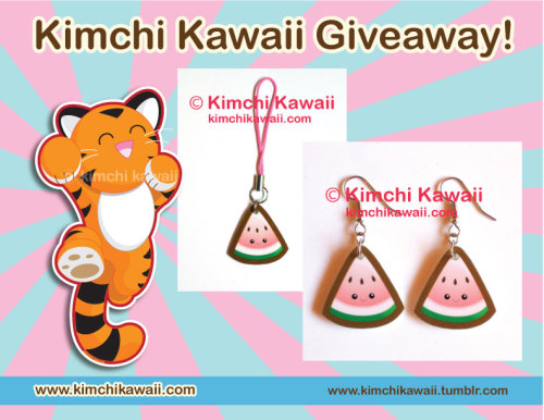 kimchikawaii:  It's Fanime month and so I'm doing some fun giveaways and contests on my various pages. Win these acrylic kawaii watermelon earrings and matching charm! Made of 100% water proof acrylic. Rules: • Reblog this photo (no more than 3 times a day) • Must be following me, Kimchi Kawaii • Likes don't count • No giveaway blogs • Random winner will be picked on May 29th I'll announce the winner here on Tumblr on the 29th. Winner has until May 31st to contact me with a mailing address. After that, I will pick another winner. Want to double your chances? If you are on Facebook, I'm doing a different giveaway there for panda items that will end on May 23rd. Good luck!  Watermelons with adorable expressions. I think it's a win just looking at them.
