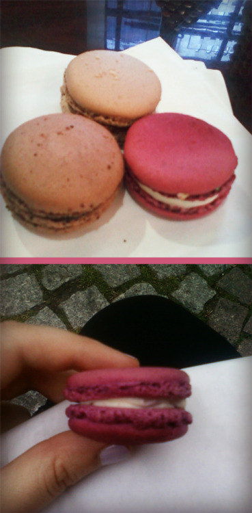 I had my first macaroon today :) They were so delicious.