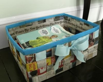 How to Make a Basket from a Newspaper