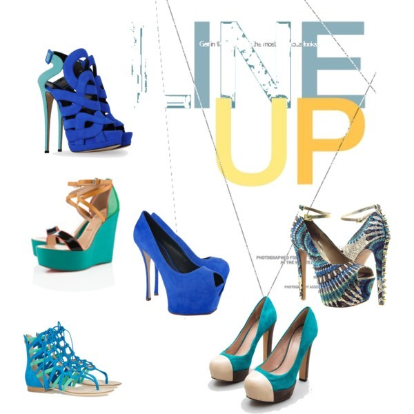 a sea of blue by amandaking49 featuring peep toe platform pumpsGiuseppe Zanotti leather high heels, $1,150Emilio Pucci roman sandals, $980Giuseppe Zanotti platform pumps, $795Vince Camuto high heel pumps, $89Wild Pair peep toe platform pumps, $120Christian Louboutin black wedge sandals
