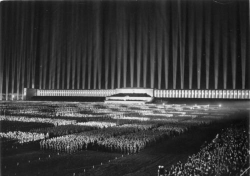 a-tychiphobia:  Nazi Party rally at Zeppelinfeld, Nuremberg, Germany - Sep 8, 1936
