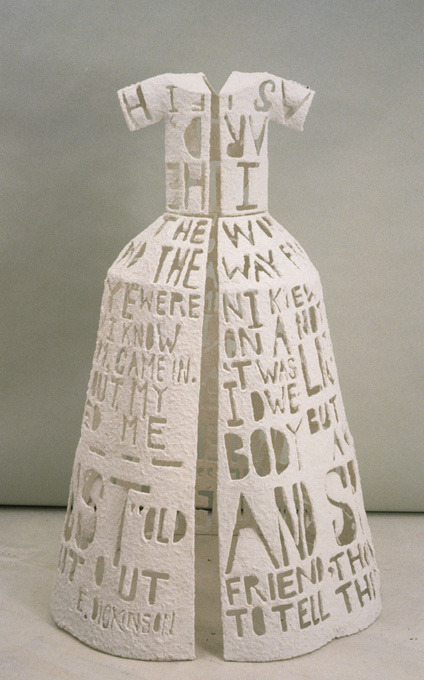 kusamapyjamas:  Lesley Dill | Hinged Poem Dress